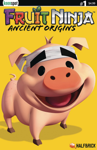 Fruit Ninja: Ancient Origins #1 (Truffles the Pig Cover)