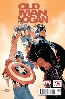Old Man Logan #3 (Captain America 75th Anniversary Cover)