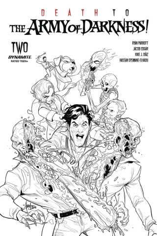 Death to the Army of Darkness #2 (10 Copy Andolfo B&W Cover)