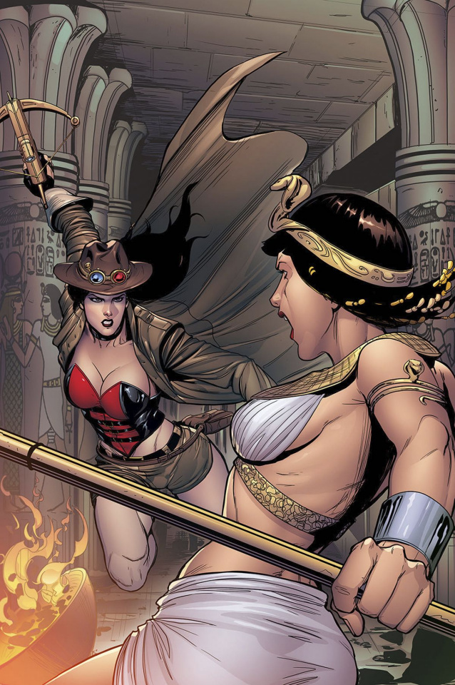 Grimm Fairy Tales: Van Helsing vs. The Mummy of Amun Ra #5 (Rose Cover)
