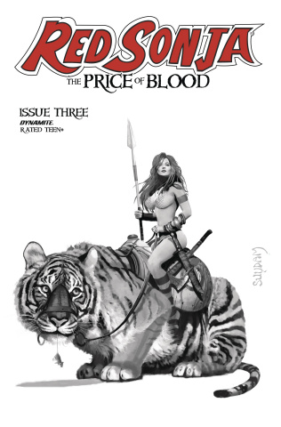 Red Sonja: The Price of Blood #3 (11 Copy Suydam B&W Cover)