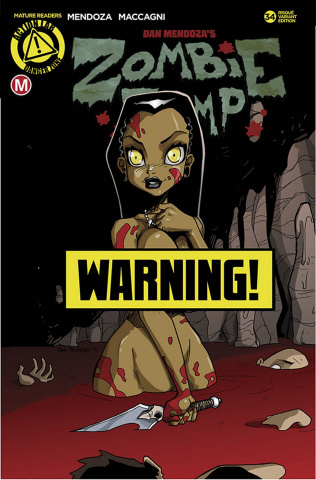 Zombie Tramp #34 (Mendoza Risque Cover)
