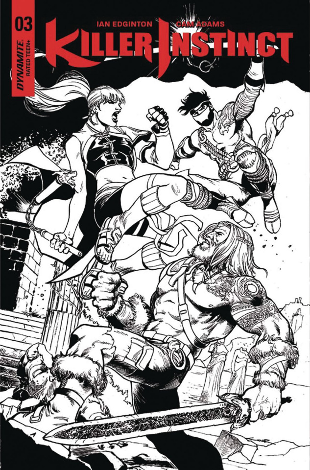 Killer Instinct #3 (20 Copy Cinar B&W Cover)