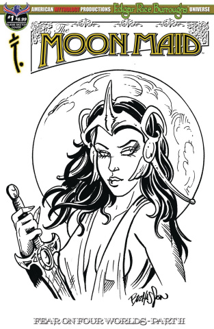 Moon Maid: Fear On Four Worlds #1 (Hasson Sketch Cover)
