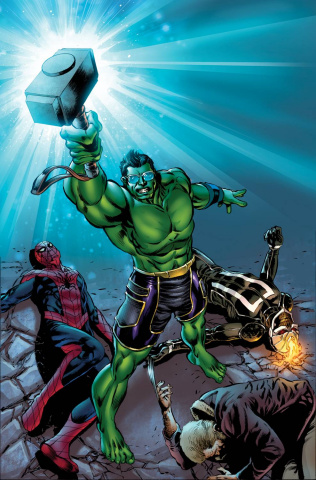 Totally Awesome Hulk #7 (Reenactment Cover)