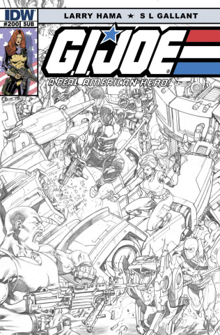 G.I. Joe: A Real American Hero #200 (Subscription Cover)