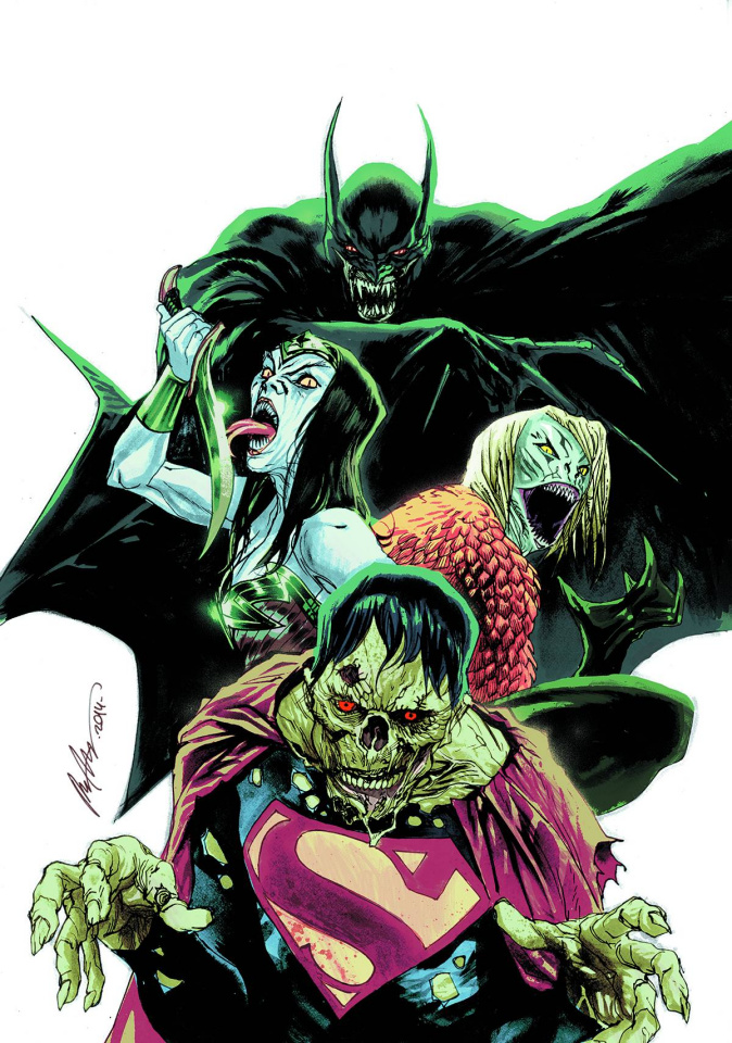 Justice League #35 (Monsters Cover)