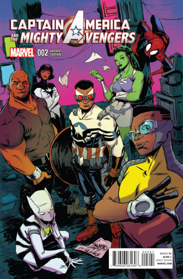 Captain America and the Mighty Avengers #2 (Greene Cover)