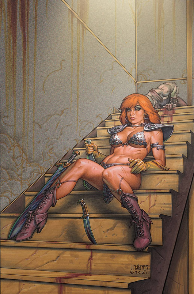 The Invincible Red Sonja #4 (Linsner Virgin Cover)