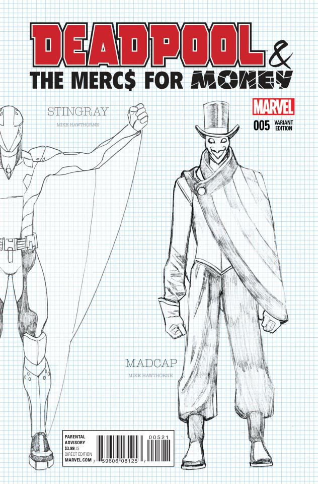 Deadpool and the Mercs For Money #5 (Hawthorne Design Cover)