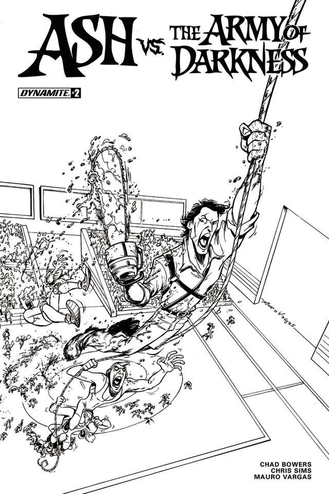 Ash vs. The Army of Darkness #2 (20 Copy Vargas B&W Cover)