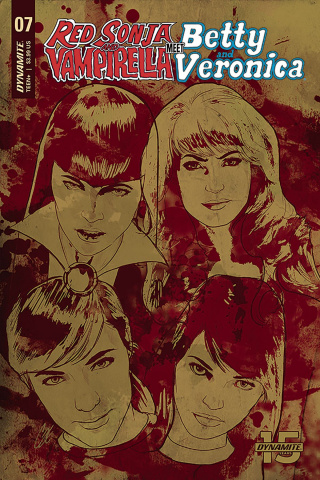 Red Sonja and Vampirella Meet Betty and Veronica #7 (Staggs Cover)