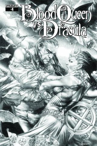 Blood Queen vs. Dracula #4 (10 Copy Anacleto B&W Cover)