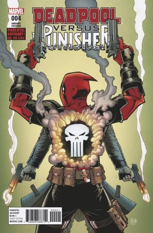 Deadpool vs. The Punisher #4 (Roche Cover)