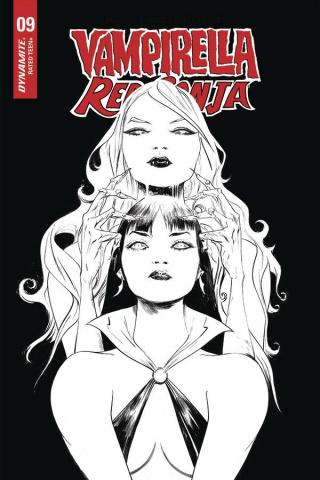 Vampirella / Red Sonja #9 (21 Copy Lee B&W Cover)