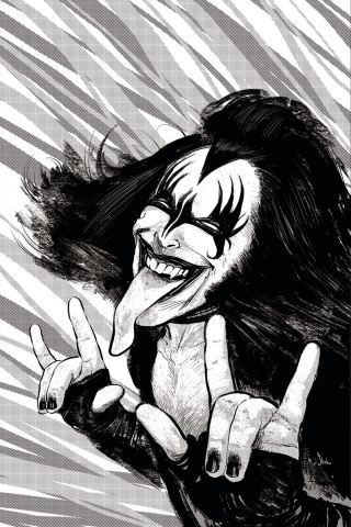KISS: The Demon #1 (Strahm B&W Virgin Cover)