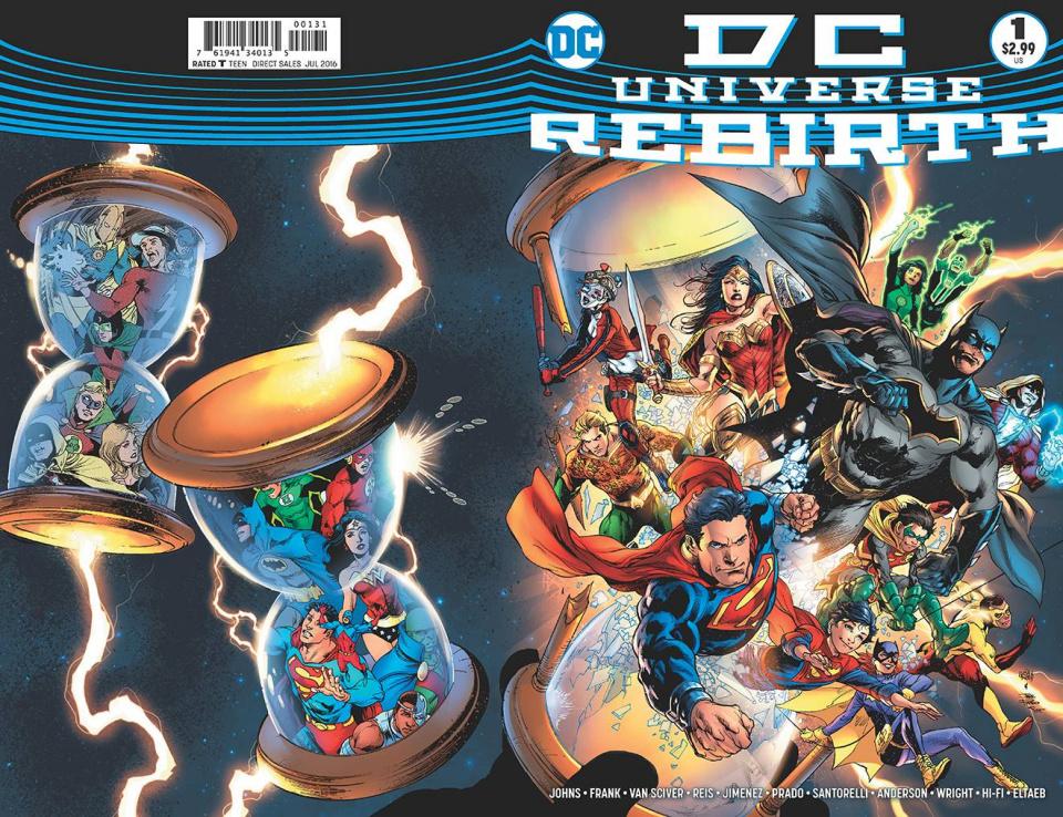 DC Universe: Rebirth #1 (Midnight Release Cover)