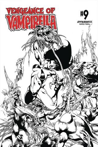 Vengeance of Vampirella #9 (11 Copy Castro B&W Cover)