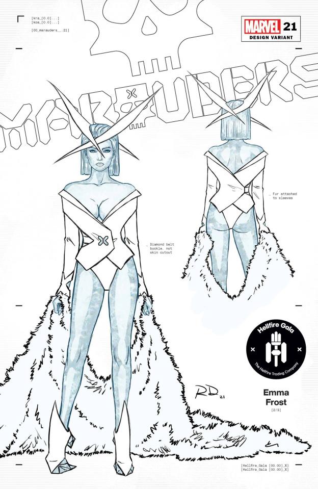Marauders #21 (Dauterman Emma Frost Design Cover)