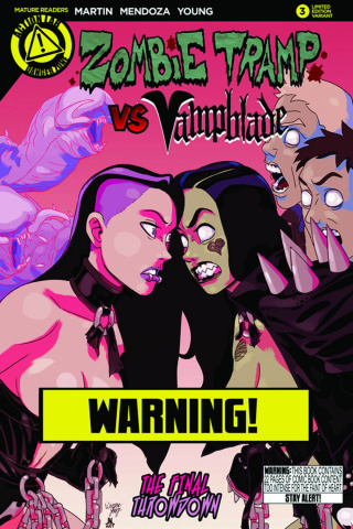 Zombie Tramp vs. Vampblade #3 (Vampblade Risque Cover)