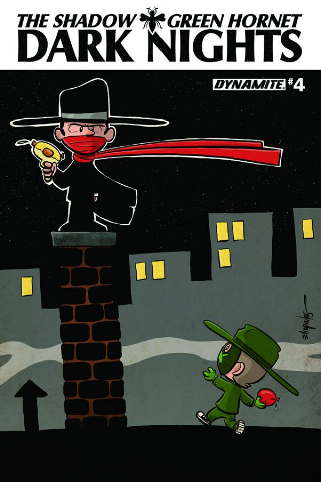 The Shadow / Green Hornet: Dark Nights #4 (Subscription Cover)