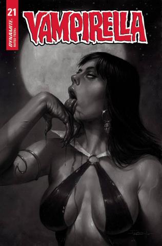 Vampirella #21 (10 Copy Parrillo B&W Cover)