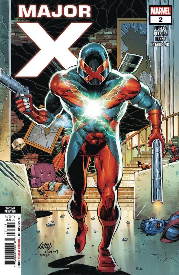 Major X #2 (Liefeld 2nd Printing)