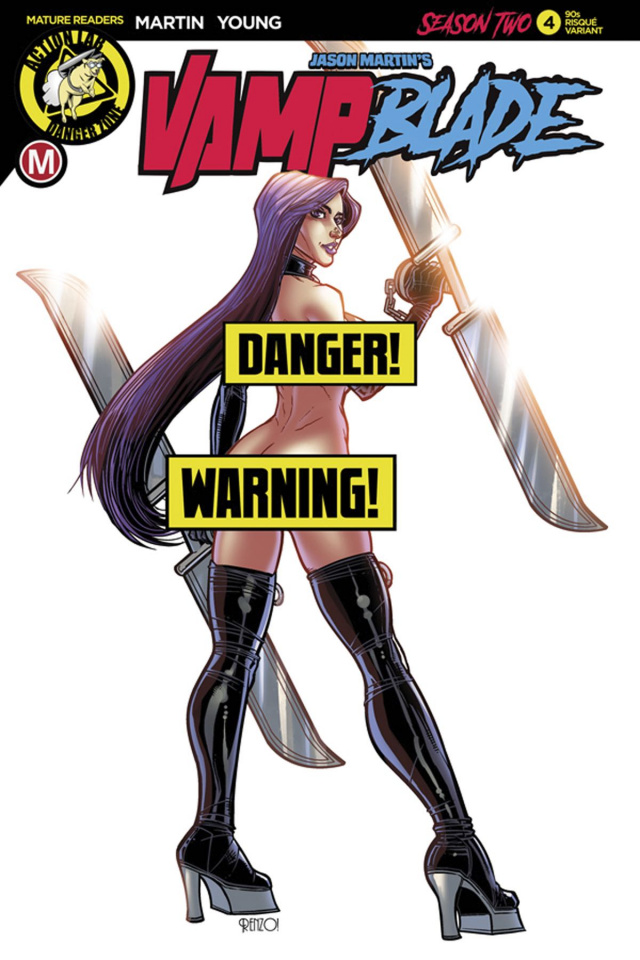 Vampblade, Season Two #4 (Rodriguez '90s Risque Cover)