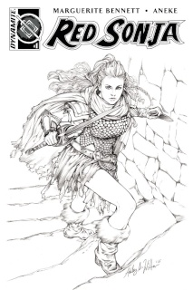Red Sonja #1 (AoD Collectibles Witter B&W Cover)
