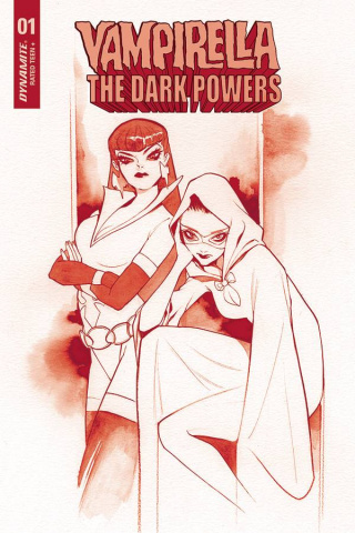 Vampirella: The Dark Powers #1 (Momoko Crimson Red Line Art Cover)