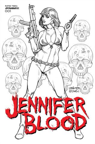 Jennifer Blood #1 (25 Copy Linsner B&W Cover)