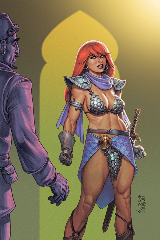Red Sonja #4 (Linsner Virgin Cover)