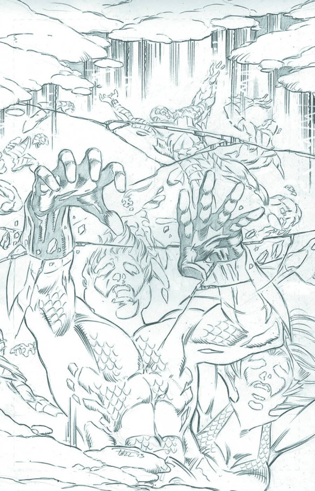Aquaman #22 (Black & White Cover)
