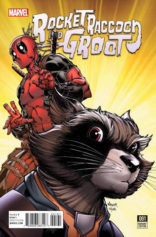 Rocket Raccoon and Groot #1 (Nauck Deadpool Cover)