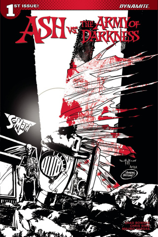 Ash vs. The Army of Darkness #1 (40 Copy Qualano B&W Cover)