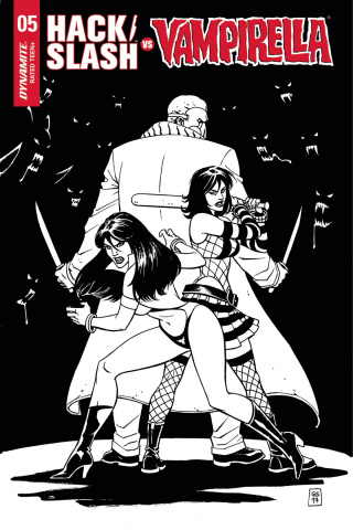 Hack/Slash vs. Vampirella #5 (20 Copy B&W Cover)