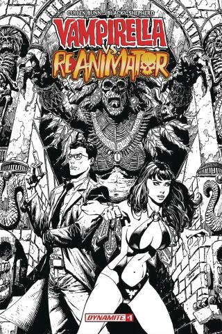 Vampirella vs. Reanimator #1 (20 Copy Desjardins B&W Cover)