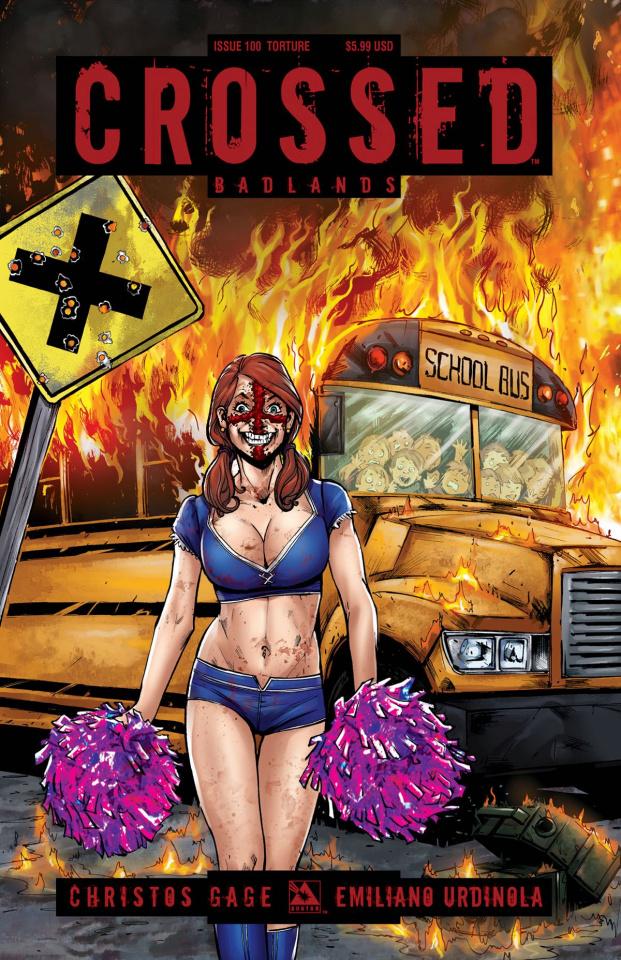 Crossed: Badlands #100 (Torture Cover)