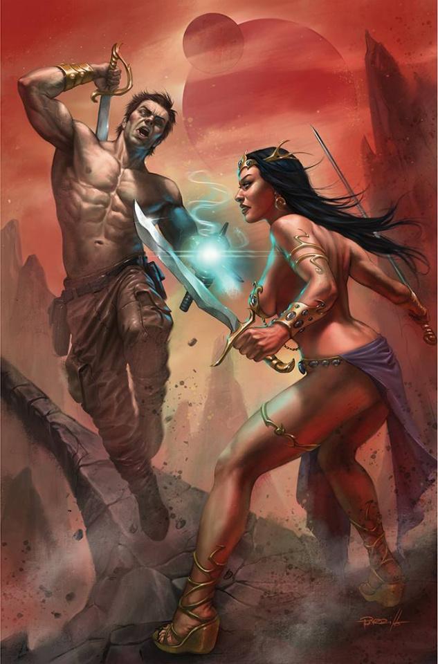 Dejah Thoris vs. John Carter Of Mars #1 (Parrillo Virgin Cover)