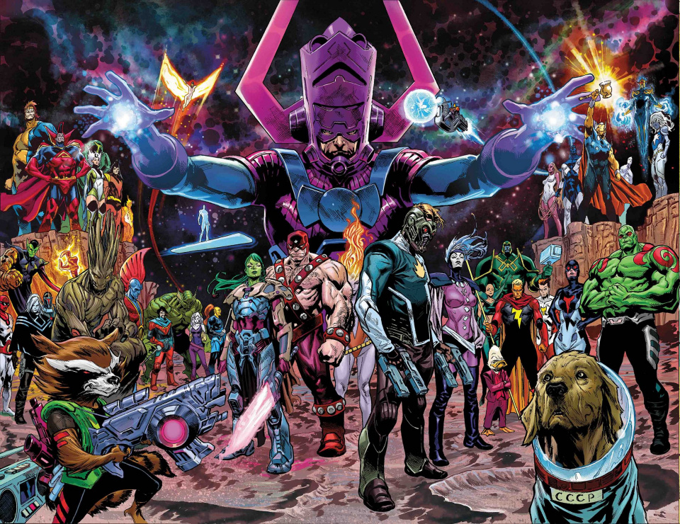 Guardians of the Galaxy #1 (Shaw Wraparound Cover)