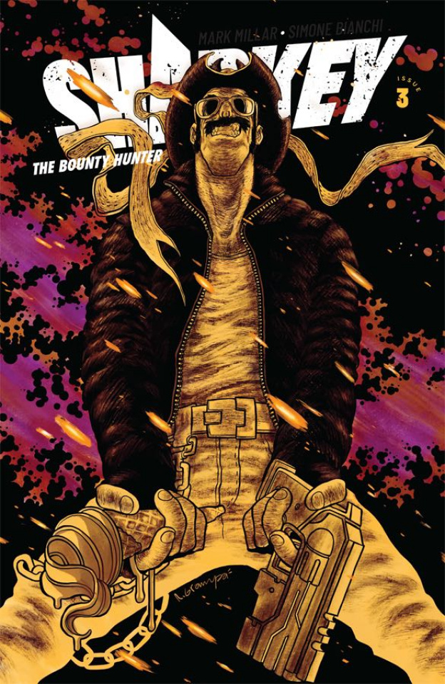 Sharkey, The Bounty Hunter #3 (Grampa Cover)