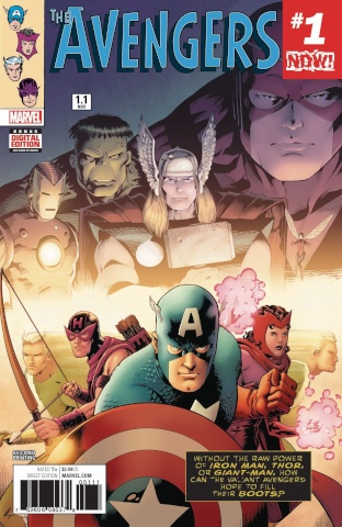 Avengers #1.1 (2nd Printing Kitson Cover)