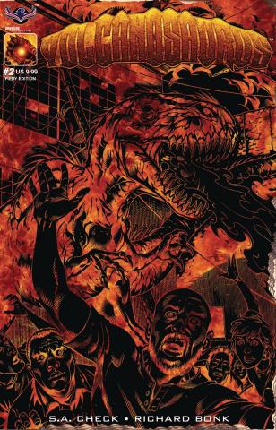 Volcanosaurus #2 (Fiery Cover)