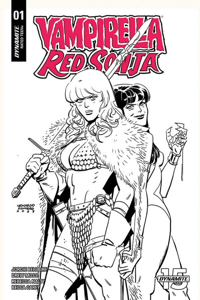 Vampirella / Red Sonja #1 (40 Copy Romero & Bellaire B&W Cover)