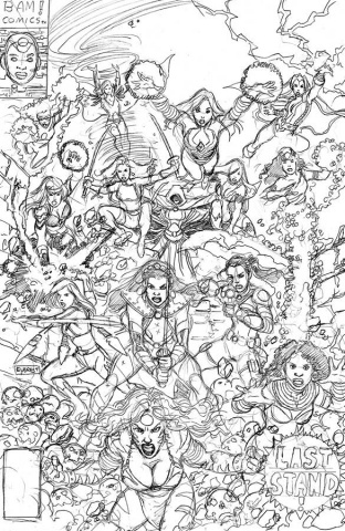Sirens #3 (50 Copy Pencils Right Cover)