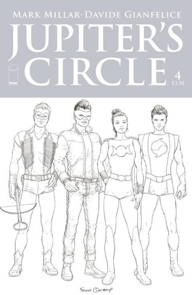 Jupiter's Circle #4 (Quitely B&W Cover)