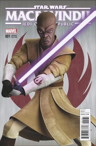 Star Wars: Mace Windu, Jedi of the Republic #1 (Animation Cover)