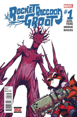 Rocket Raccoon and Groot #1 (Young 2nd Printing)