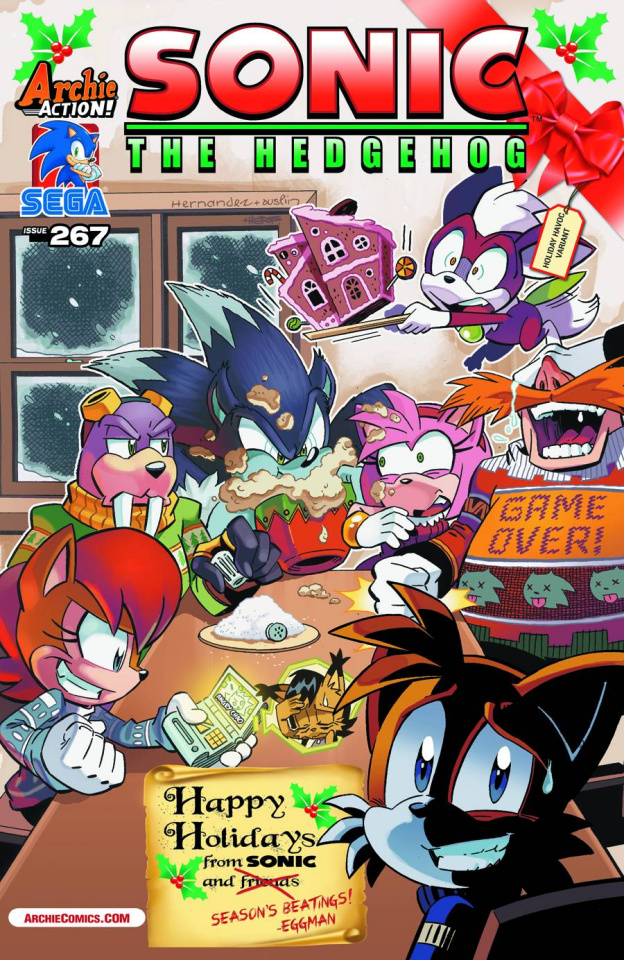 Sonic the Hedgehog #267 (Holiday Havoc Cover)