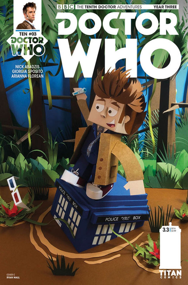 Doctor Who: New Adventures with the Tenth Doctor, Year Three #3 (Papercraft Cover)